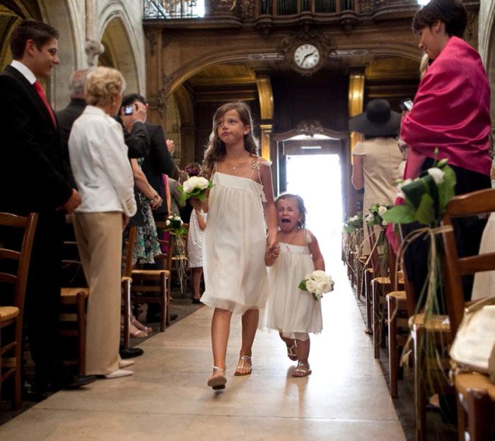 Смешные эмоции детей на свадьбах