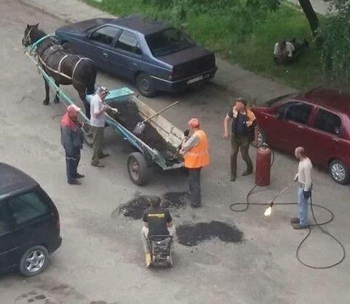 Этот ремонт дорог доведет автолюбителей до истерики
