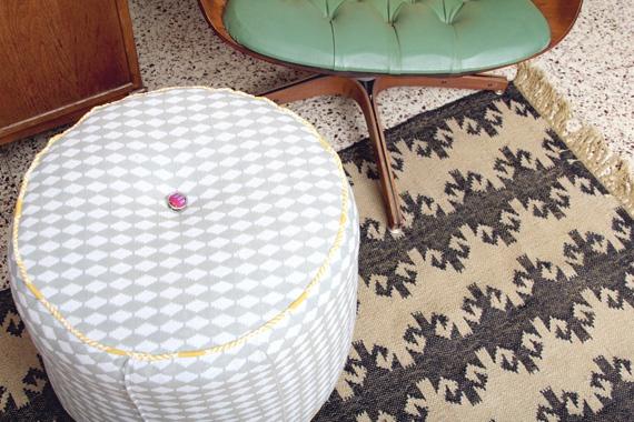 Круглый пуфик из одеял (Diy)