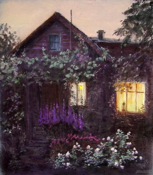 Вот и окна в сумраке зажглись...светлая, лиричная и изящная живопись Елены Юшиной