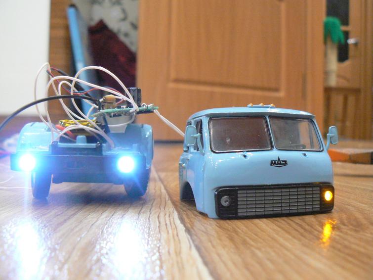 Радиоуправляемые грузовики МАЗ 54321 и МАЗ 504В