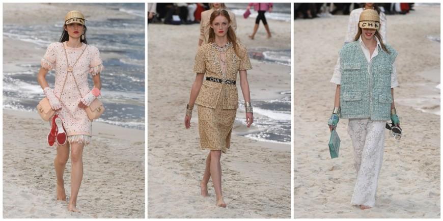 Твид на пляже: Chanel SS 19