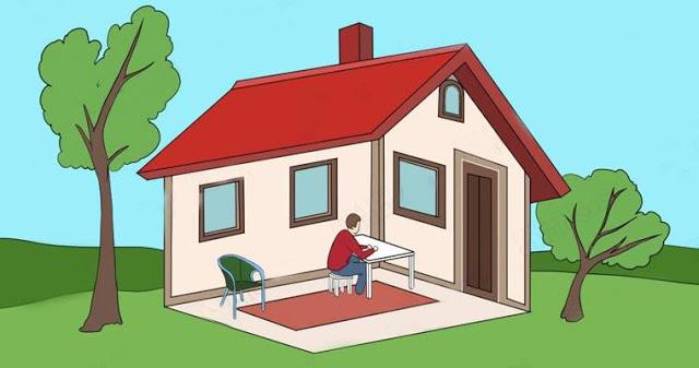 Человек находиться внутри дома или снаружи? Ваш ответ раскроет вашу личность