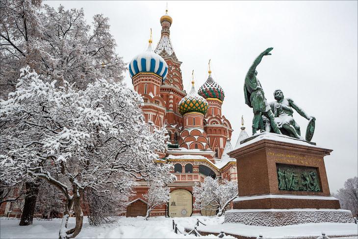 Прогулка по Москве после снегопада