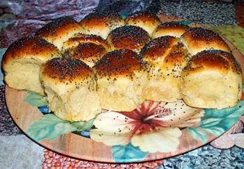 Torta Danubio  Пирог из булочек с ветчиной и сыром