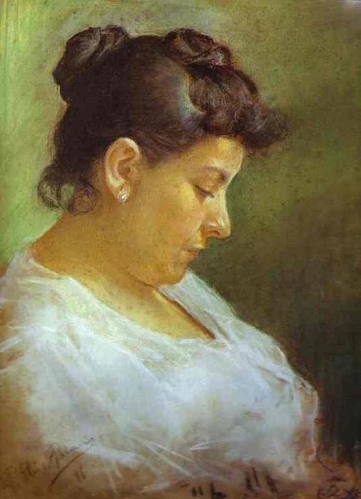 Портрет матери художника (1896 год), написанный 15-летним Пикассо.