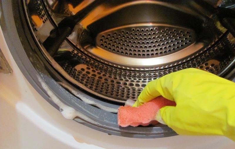 избавиться от плесени в стиральной машине