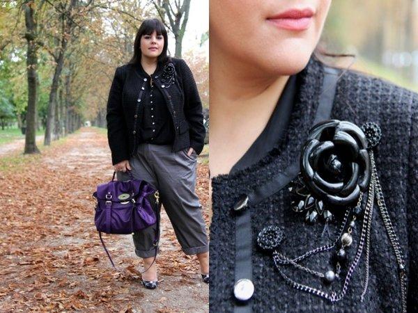 Жакет в стиле Шанель, интересная брошка и классические брюки — для любой фигуры. Это блогер Stephanie Zwicky из Парижа