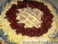 """Фото приготовления рецепта: Праздничный салат """"Колесо обозрения"""" - шаг №3"""