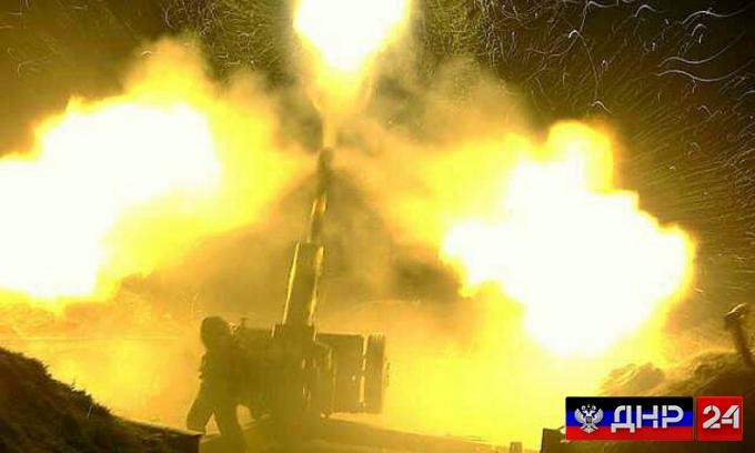 Украинские военные ведет обстрел Донецка и пригородов