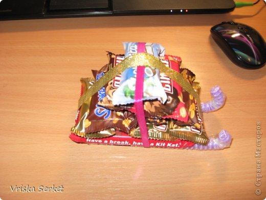 Мастер-класс Новый год Моделирование конструирование Сладкий презент на новый год и мини-МК Клей Продукты пищевые фото 14