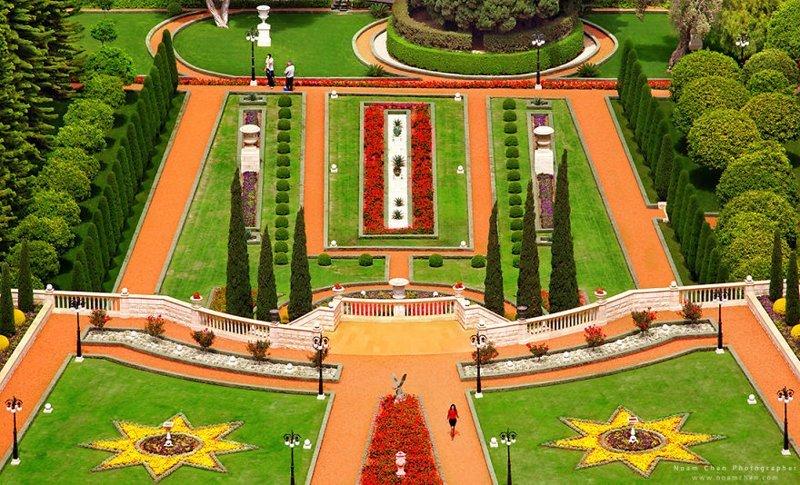 Как будто сад европейского дворца! На самом деле - бахайские террасы в городе Хайфа Израиль, красиво, красивые места, природа, страны, страны мира, фото, фотограф