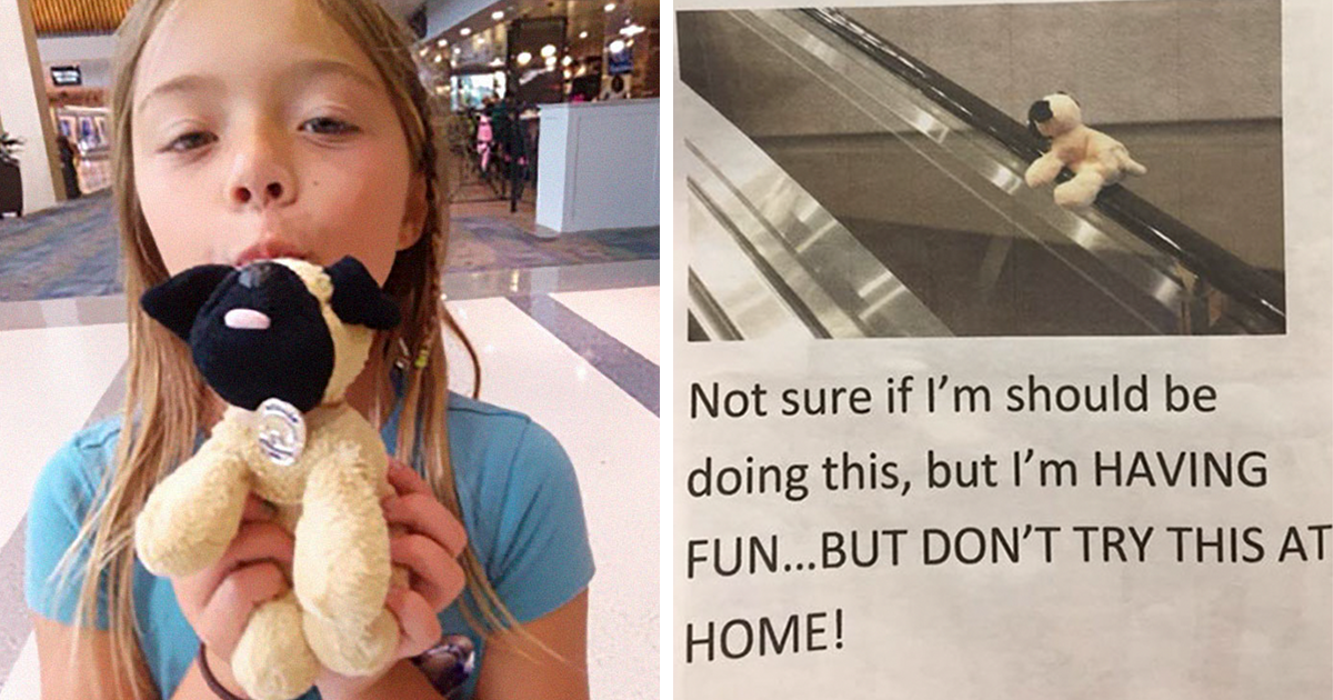 Little Girl Loses Her Favorite Stuffed Toy At Airport, Airport Police Returns It To Her With A Surprise