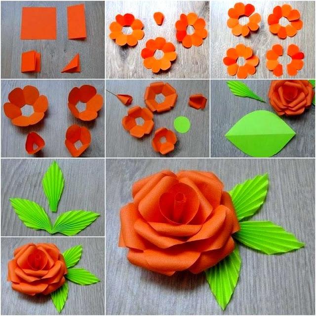 Как делать из цветной бумаги объёмные цветы