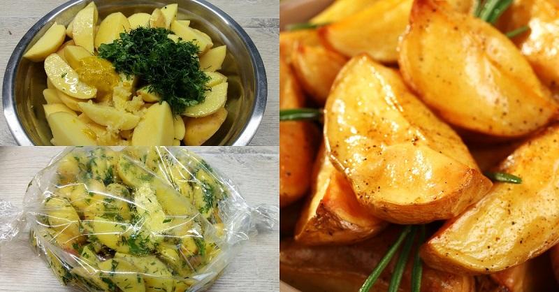 Как приготовить картофель в рукаве