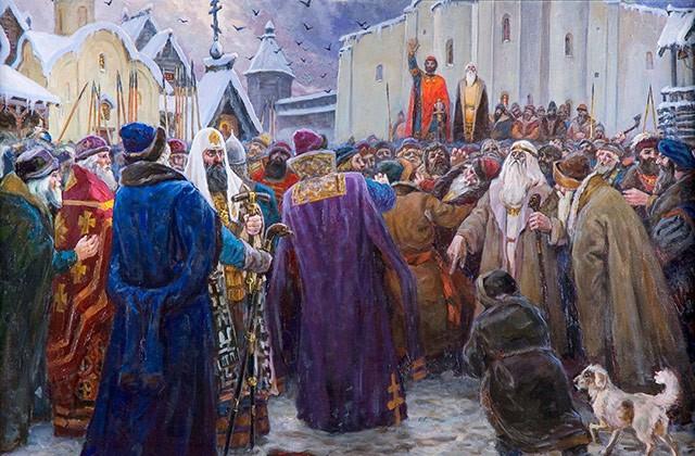 «Новгородское вече» Сергея Рубцова. Источник: museum.ru