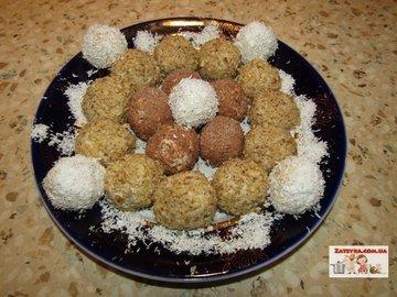 Творожные конфеты Ñ Ð¿ÐµÑ‡ÐµÐ½ÑŒÐµÐ¼ и грецкими орехами