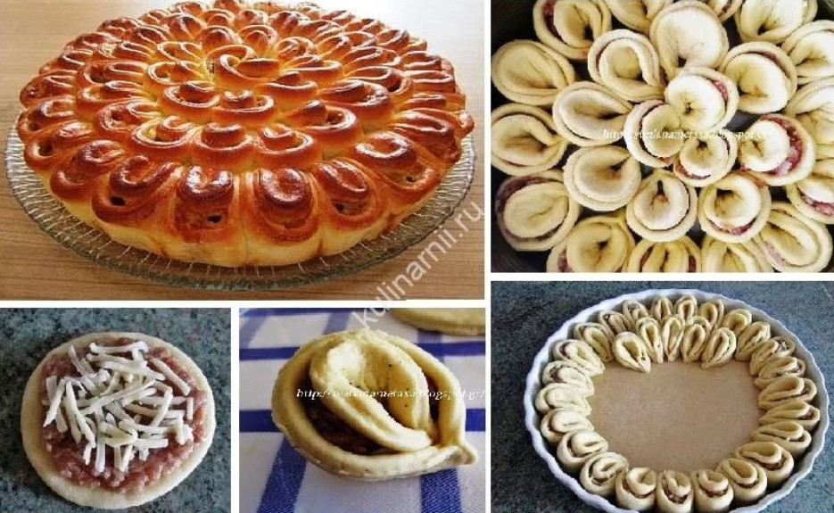 Красивое оформление пирогов из дрожжевого теста и