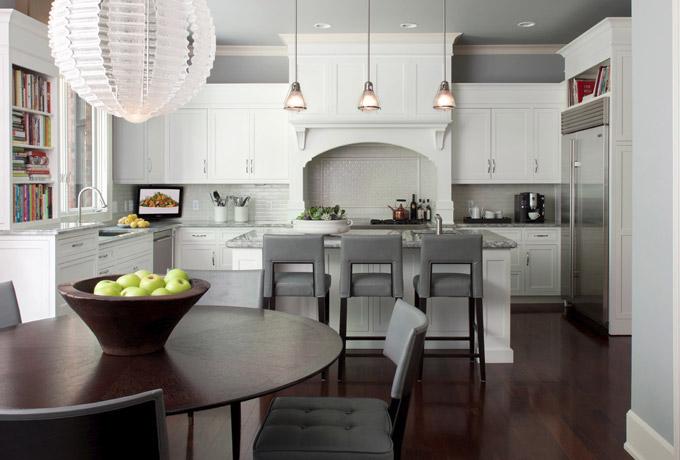 Серый цвет в кухне
