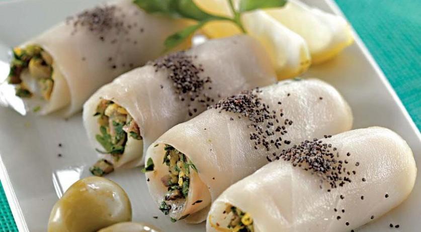 Вкуснейшие рулетики из масляной рыбы