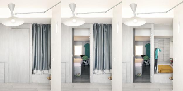 Создать трехкомнатную квартиру на 30  квадратных  метрах