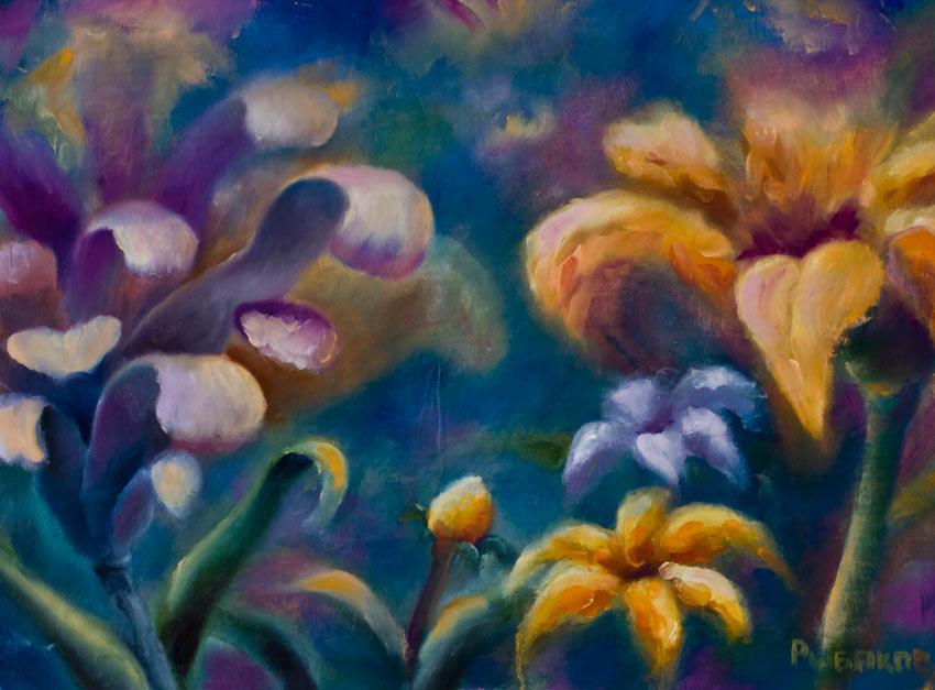 цветы, макро, Цветочная картина