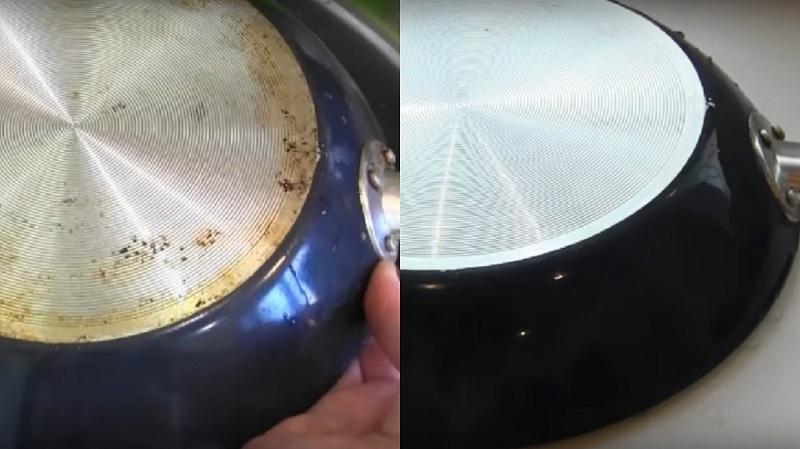 Старинный способ почистить сковородку от нагара и застывшего жира