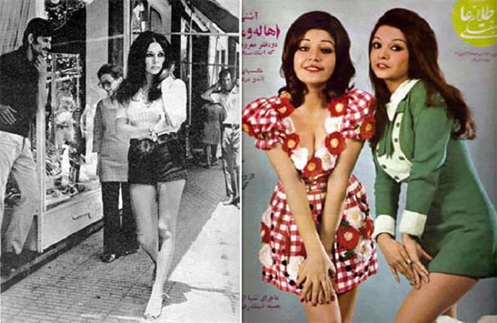 Иранские модницы 1970-х годов. | Фото: celebritymeasurement.net.