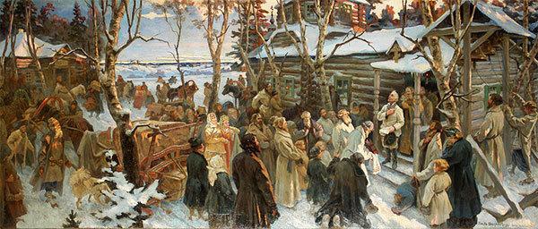 Н. Шабунин. Отъезд А. В.Суворова из села Кончанского в поход 1799 г.