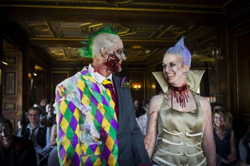 Зомби-свадьба сумасшедшей парочки