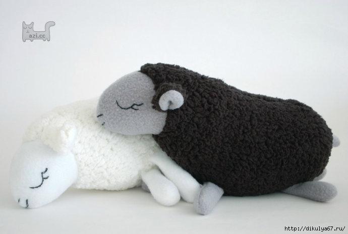 Шьем овечек из флиса и искус…