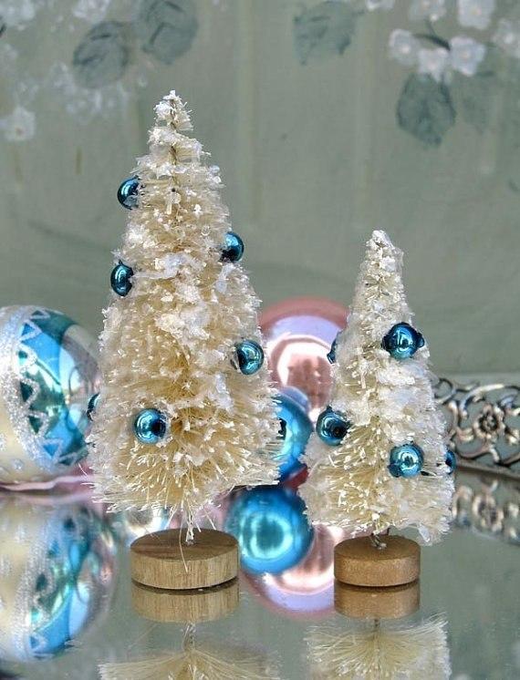 Оригинальные елочки из ершиков!  Море идей декора.