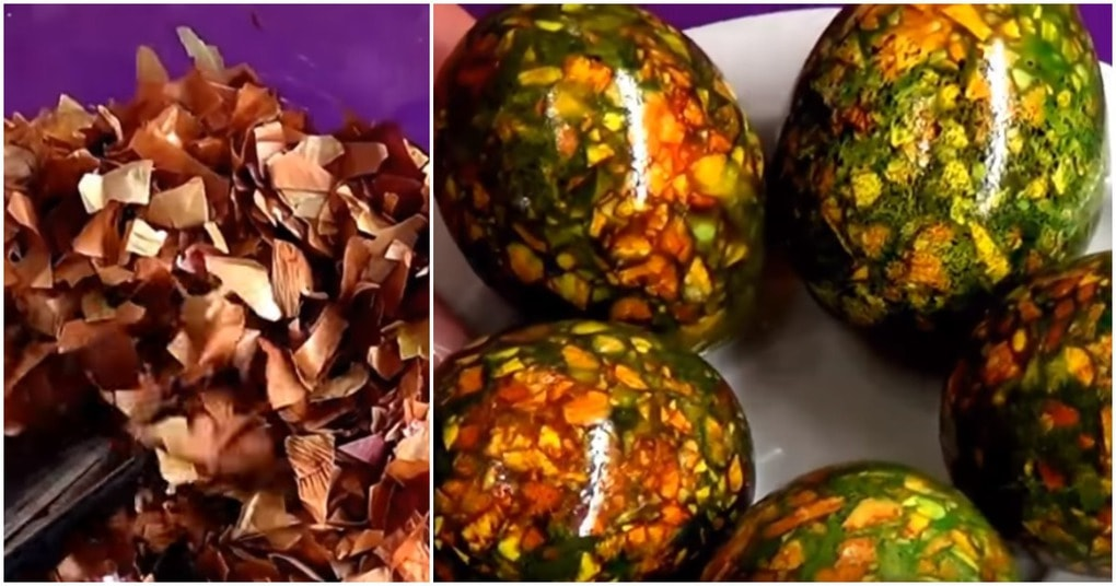 Отличная идея покраски яиц на Пасху: красиво, просто и доступно