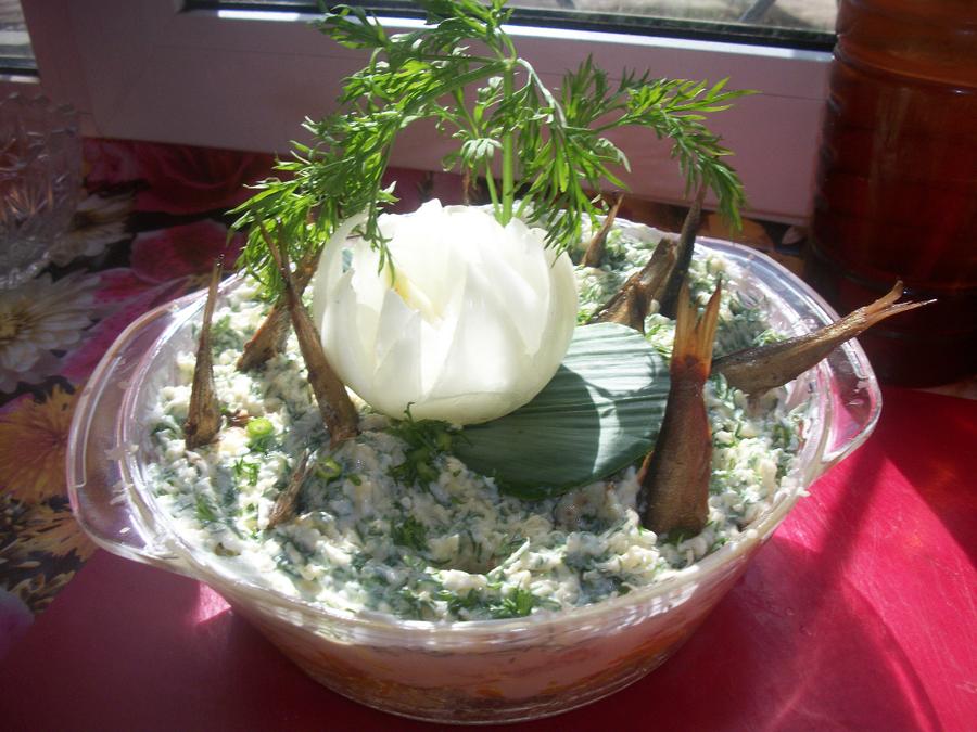 Салат рыбы в пруду рецепт 10