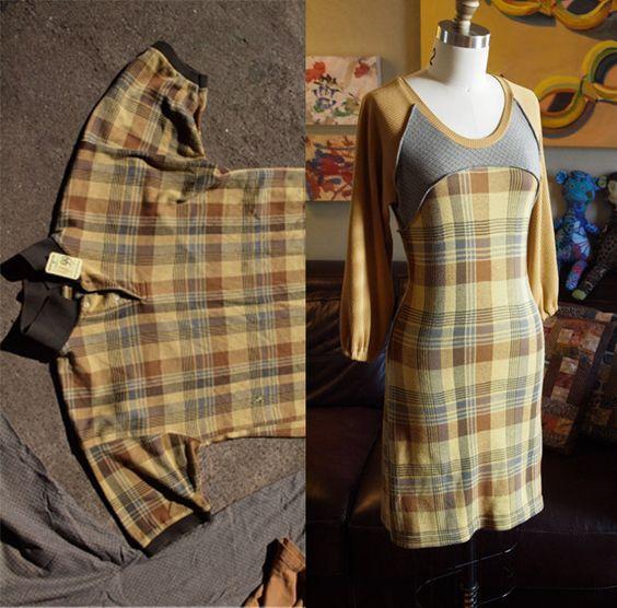 Платье из мужской футболки