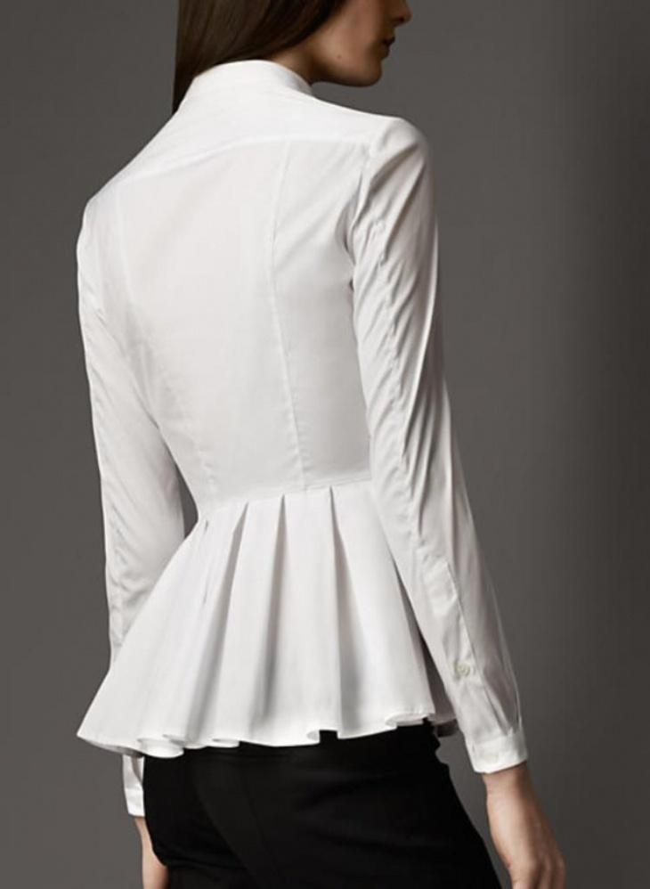 Необычные белые блузки