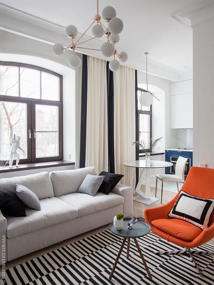 Стильный минимализм в небольшой московской квартире (44 кв. м)