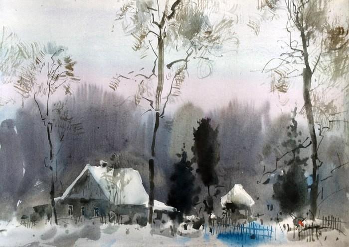 «Люблю, когда все не так просто»...внутреннее тепло и яркие краски акварелей Дениса Петруленкова