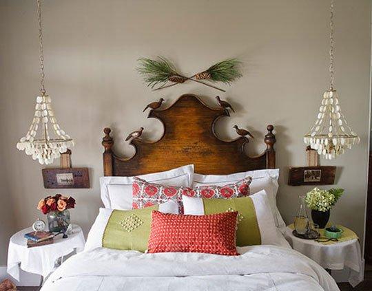 Идеи: Вешаем люстру около кровати