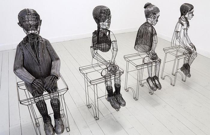 Проволочные люди и животные: Скульптуры, так похожие на компьютерную графику