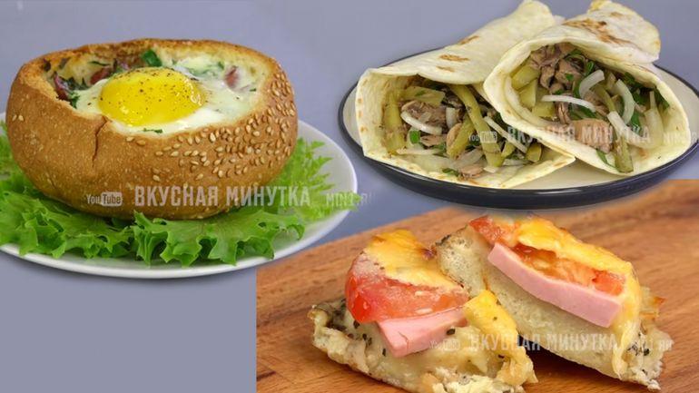 Бутерброды - три вкусных варианта