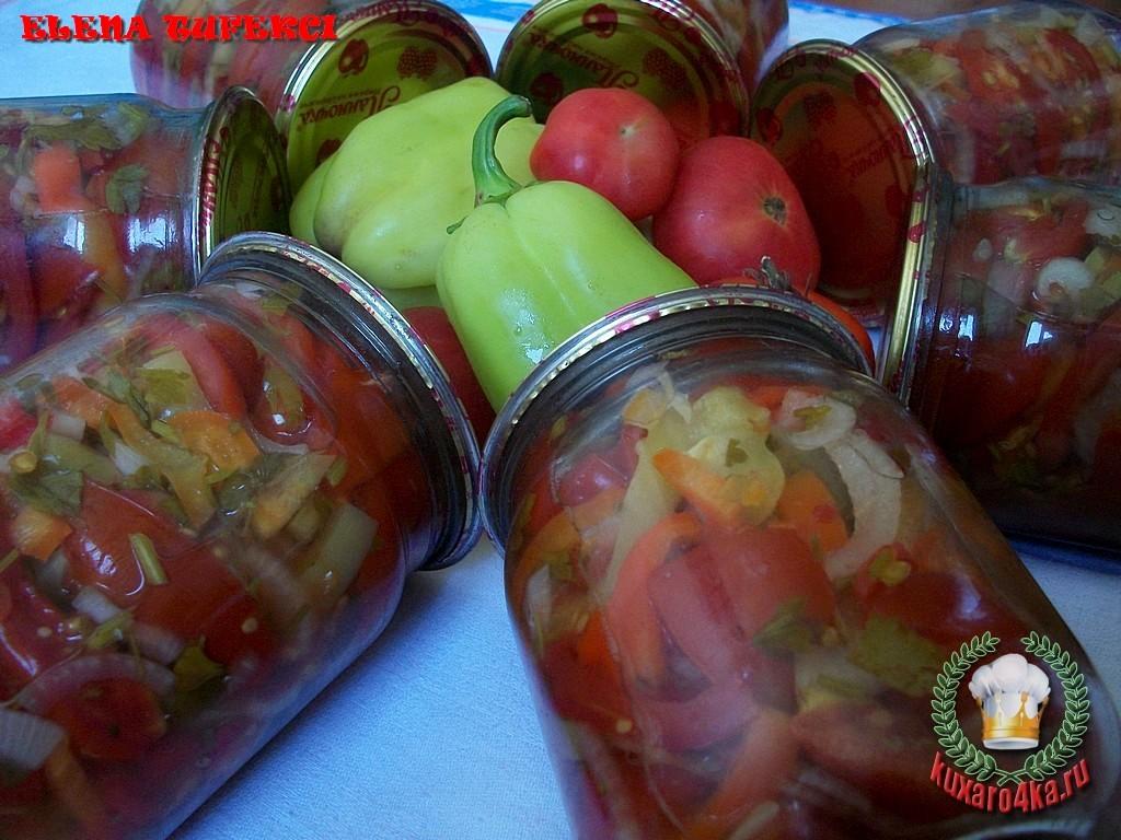 Салат из помидор в желатине на зиму