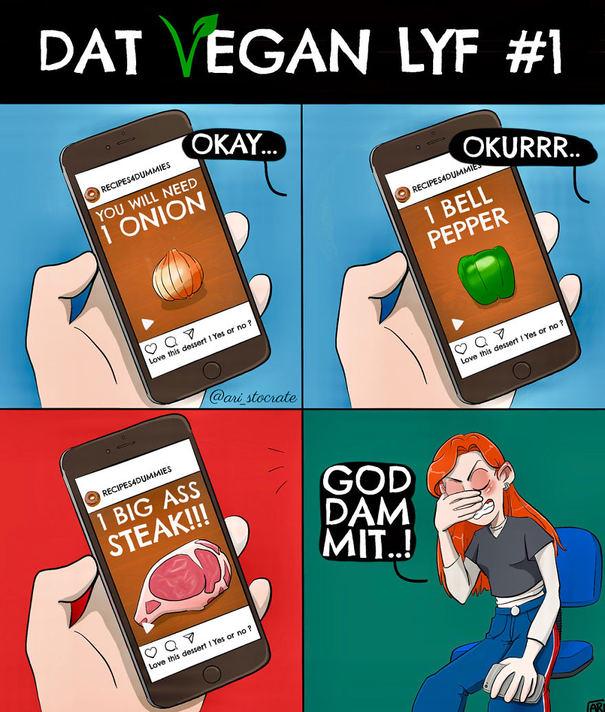 Vegan Artist Illustrates Her Everyday Life In 50 Funny Comics
