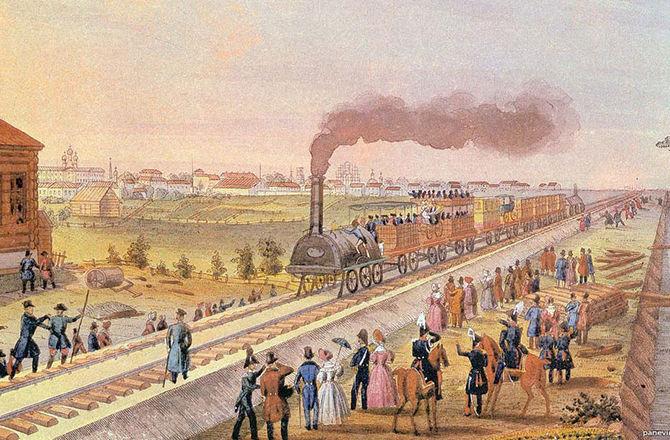 Как в России строили первую железную дорогу