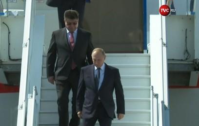 Путин прилетел в Хельсинки
