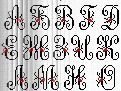 Вышивка крестом большие буквы