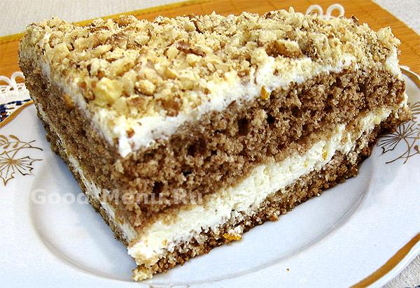 Гречневый торт с творогом - рецепт