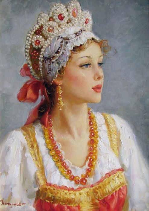 Недаром славится русская красавица