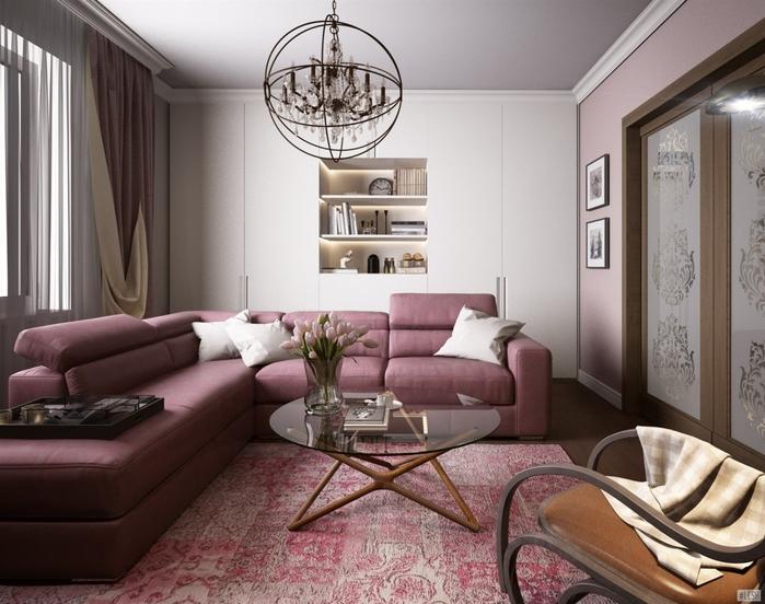 Дизайн двухкомнатной квартиры в стиле минимализм и классика