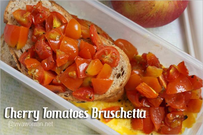Cherry Tomatoes Bruschetta Lunchbox Idea Beauty Lunchbox Ideas: 5 Easy Sandwich Recipes